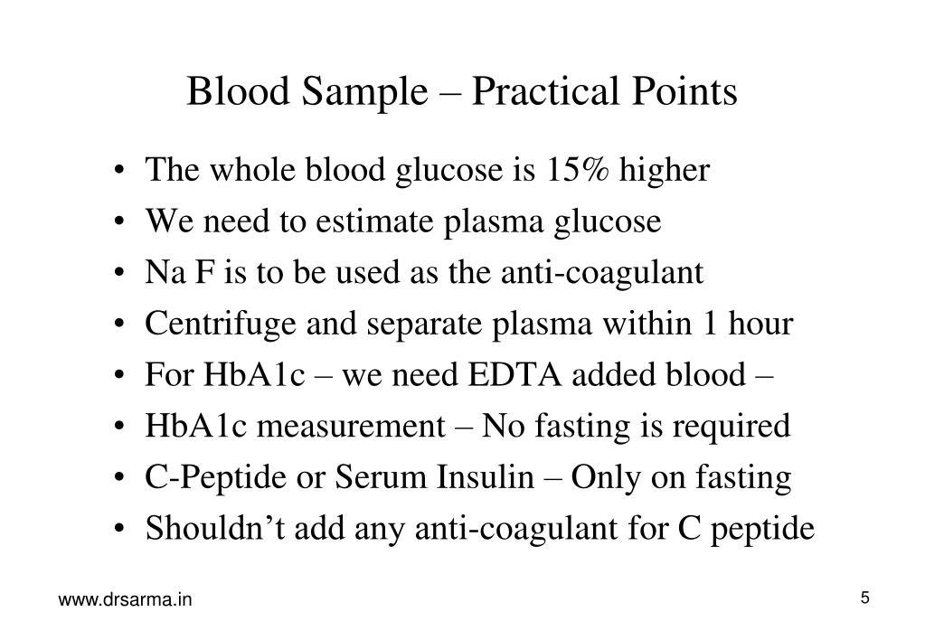 Blood Sample – Practical Points
