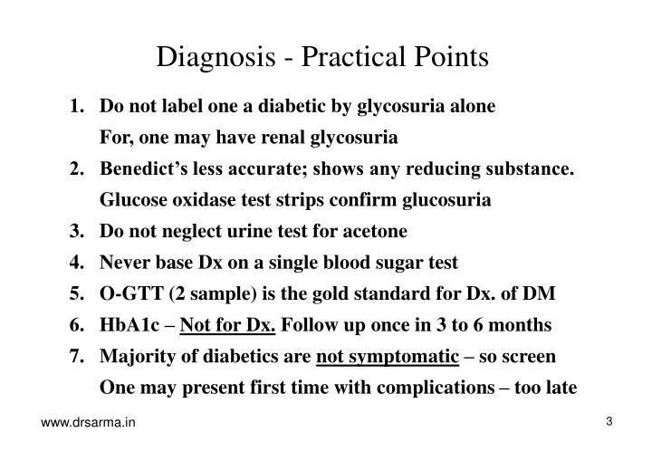 Diagnosis - Practical Points