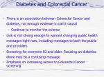 diabetes and colorectal cancer