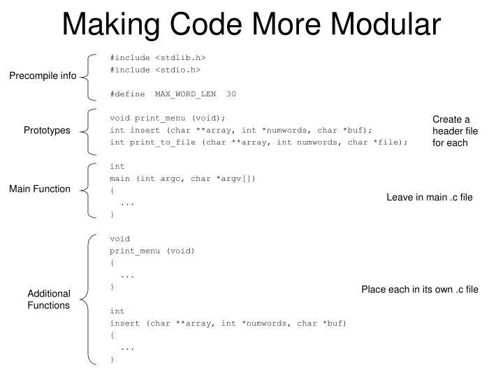 Making code more modular