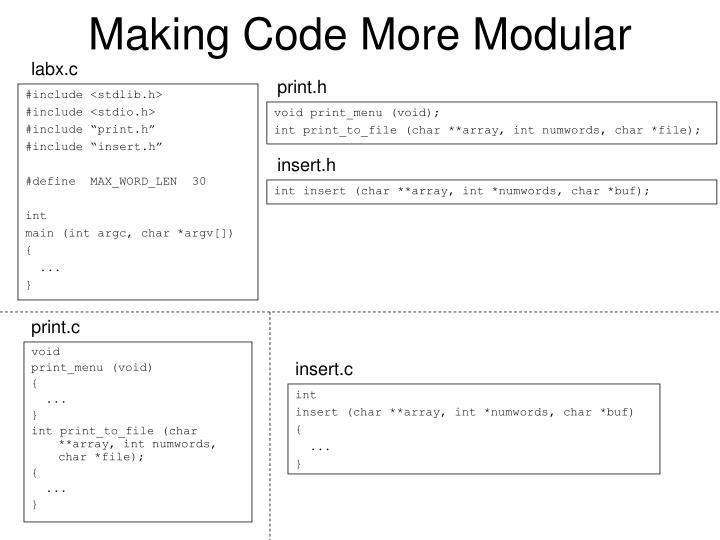 Making code more modular3
