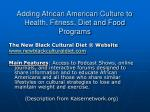 adding african american culture to health fitness diet and food programs35