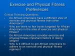 exercise and physical fitness preferences28