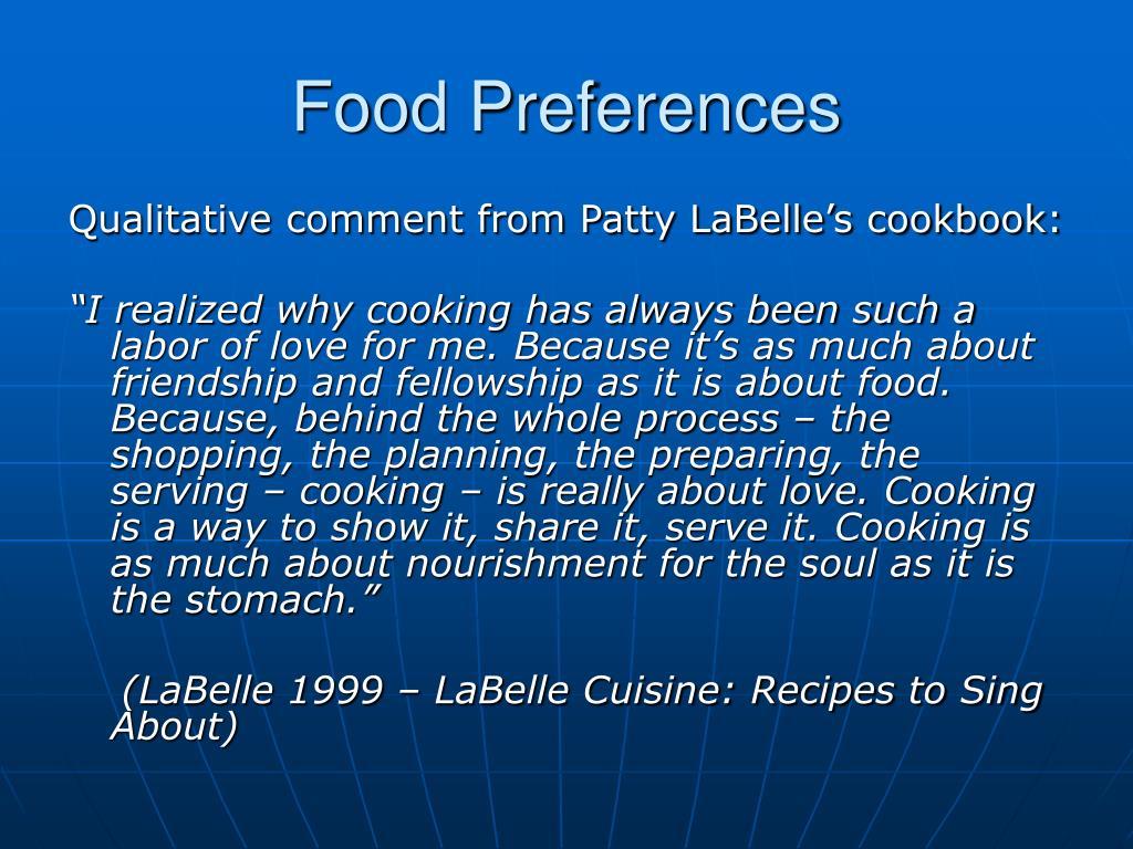Food Preferences