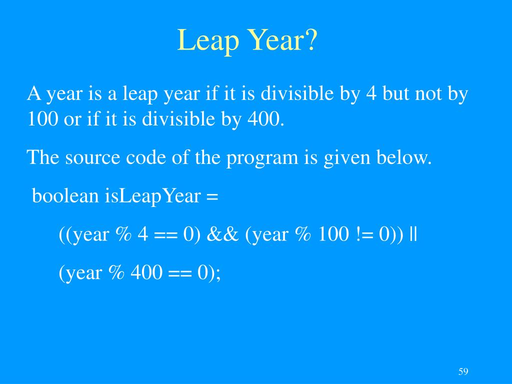 Leap Year?