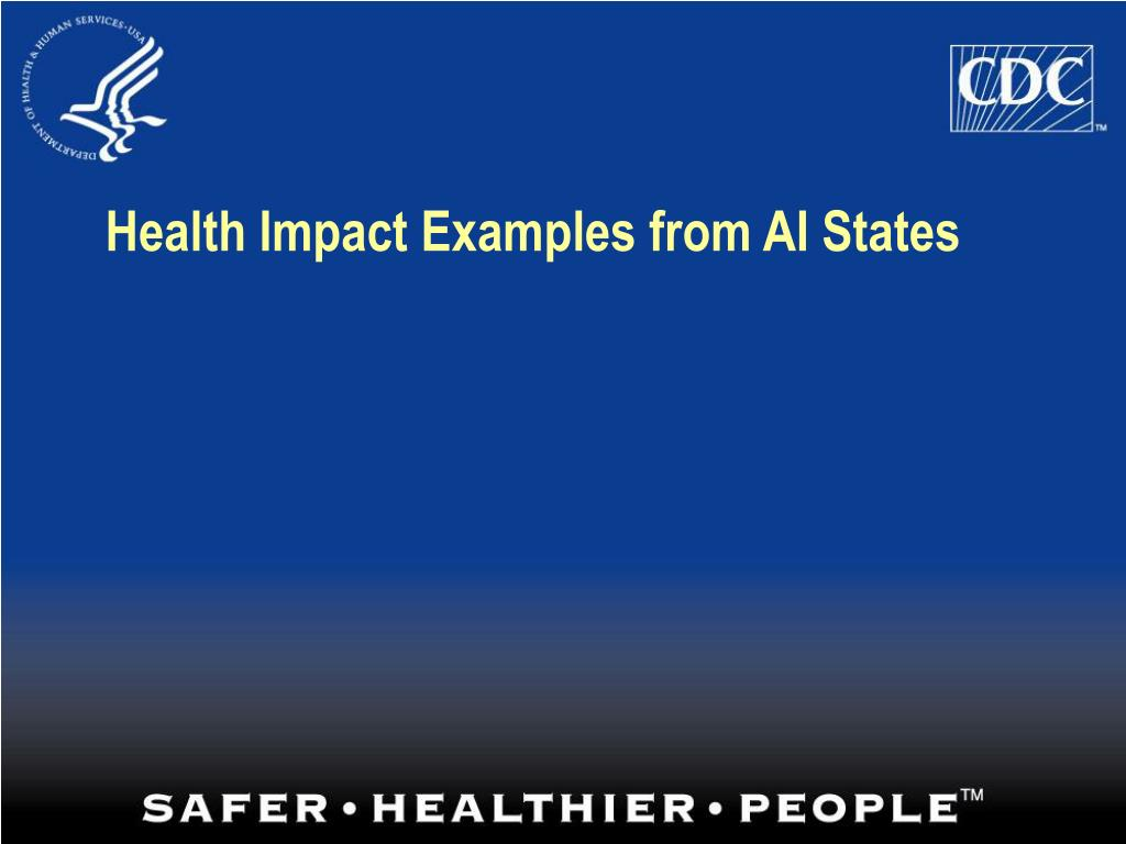 Health Impact Examples from AI States