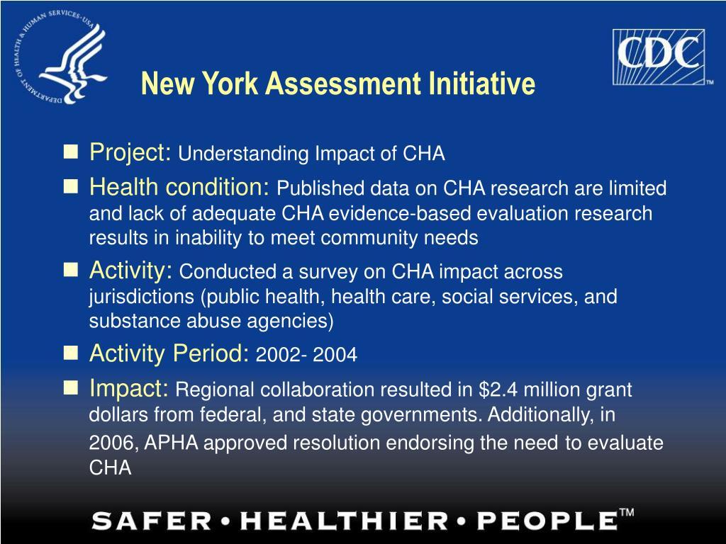 New York Assessment Initiative