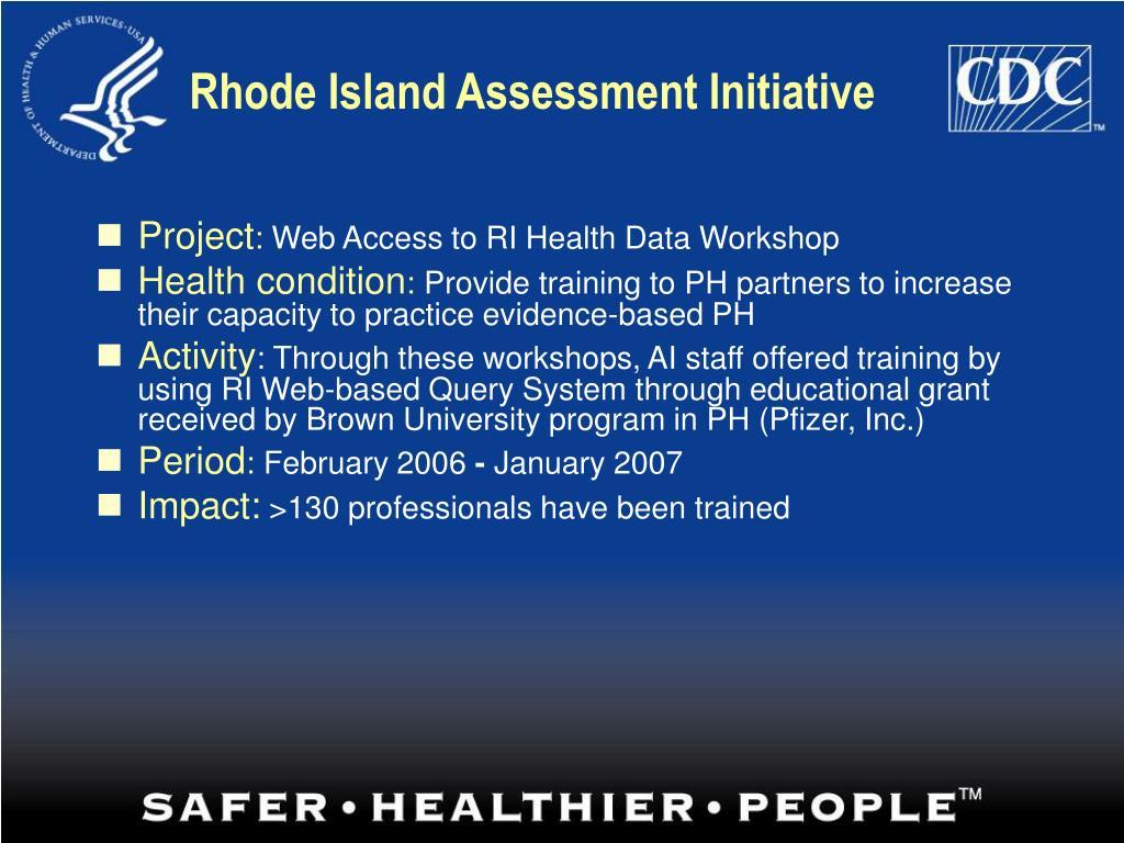 Rhode Island Assessment Initiative