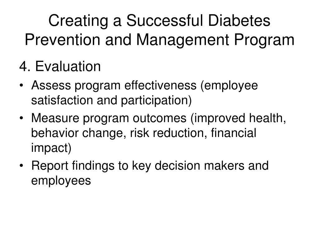 Creating a Successful Diabetes Prevention and Management Program