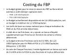 costing du fbp