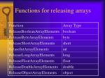 functions for releasing arrays107