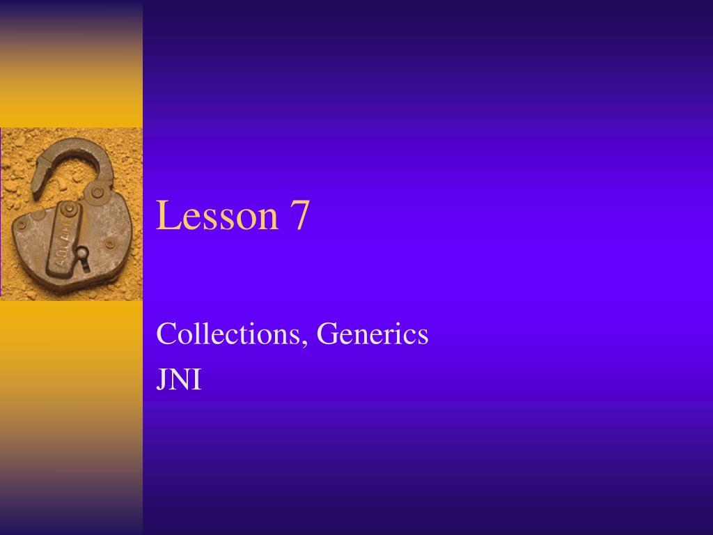 lesson 7 l.