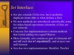 set interface