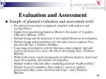 evaluation and assessment19