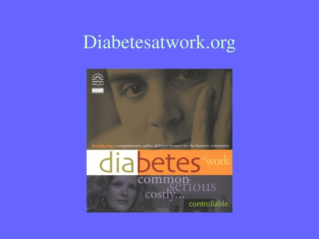 Diabetesatwork.org
