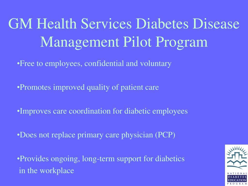 GM Health Services Diabetes Disease Management Pilot Program
