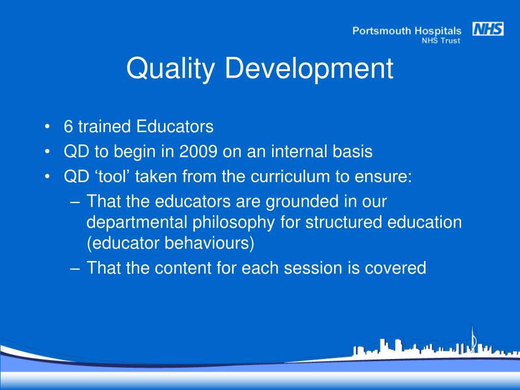 Quality Development