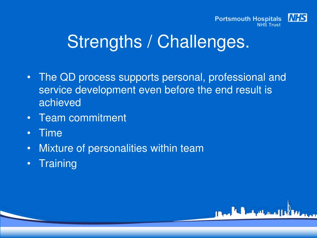 Strengths / Challenges.