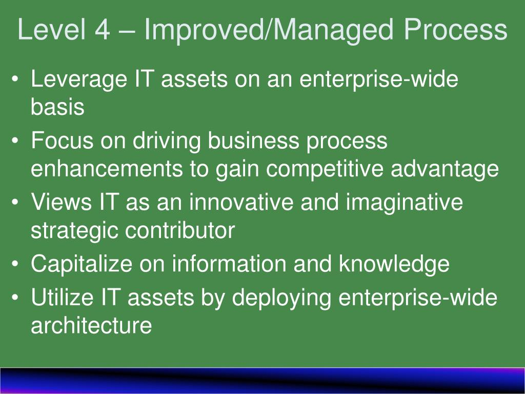 Level 4 – Improved/Managed Process