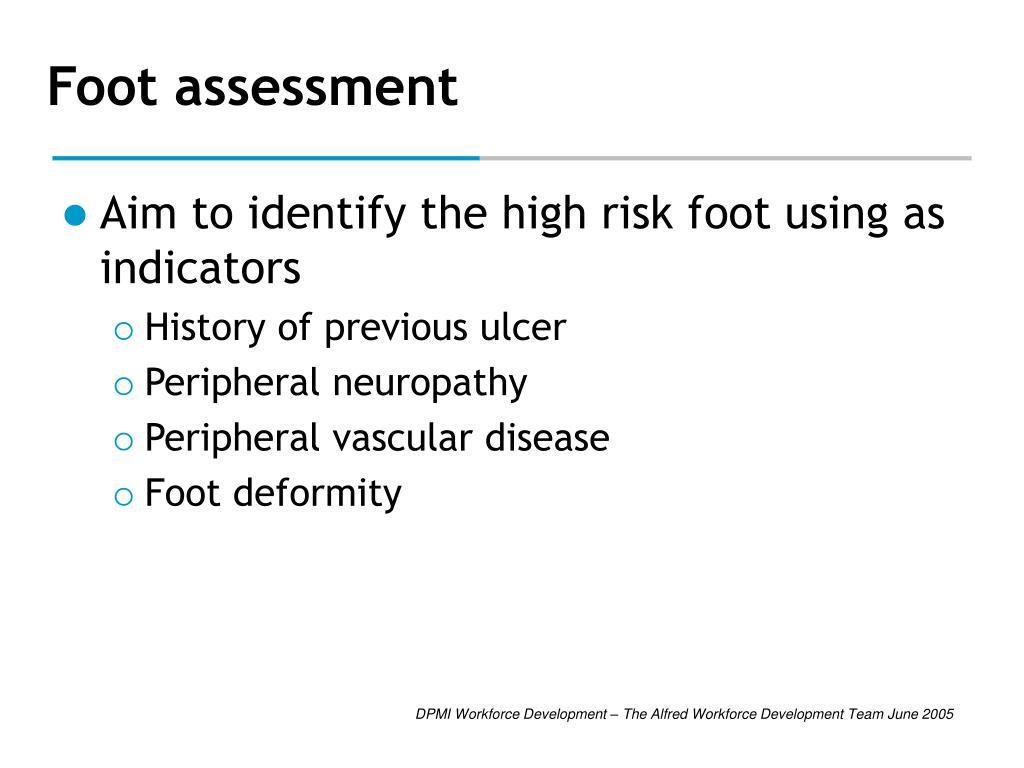 Foot assessment