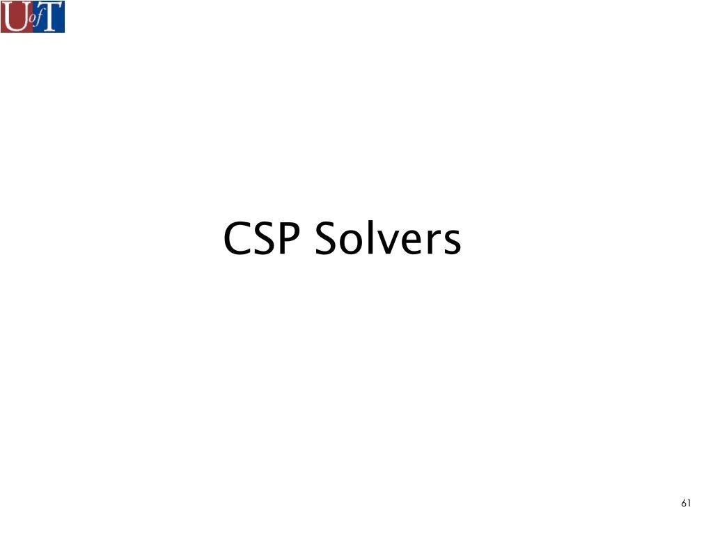 CSP Solvers