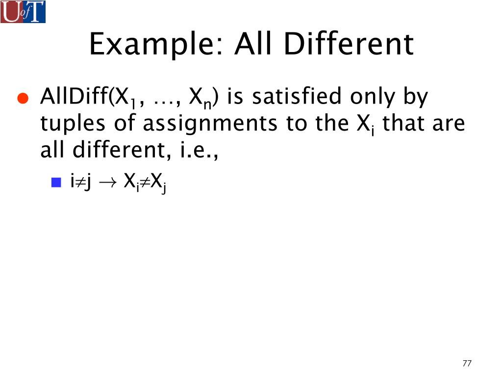 Example: All Different