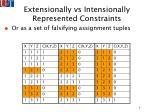 extensionally vs intensionally represented constraints9