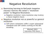 negative resolution