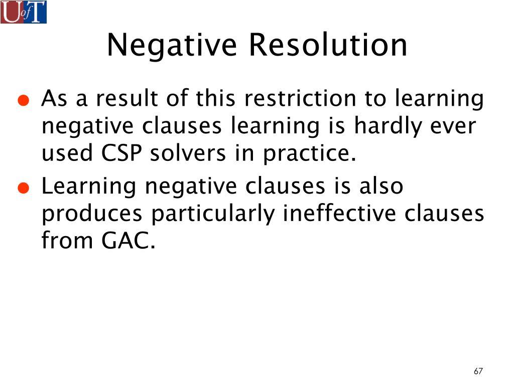 Negative Resolution