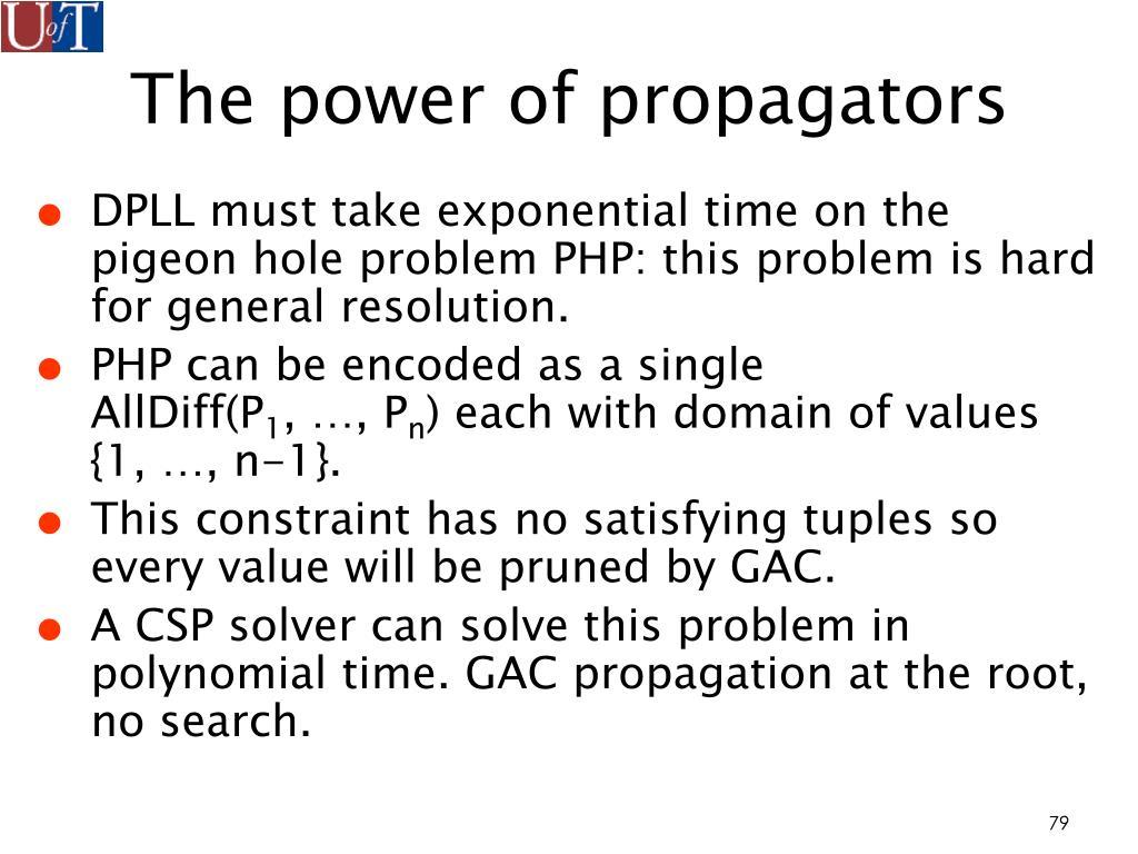 The power of propagators