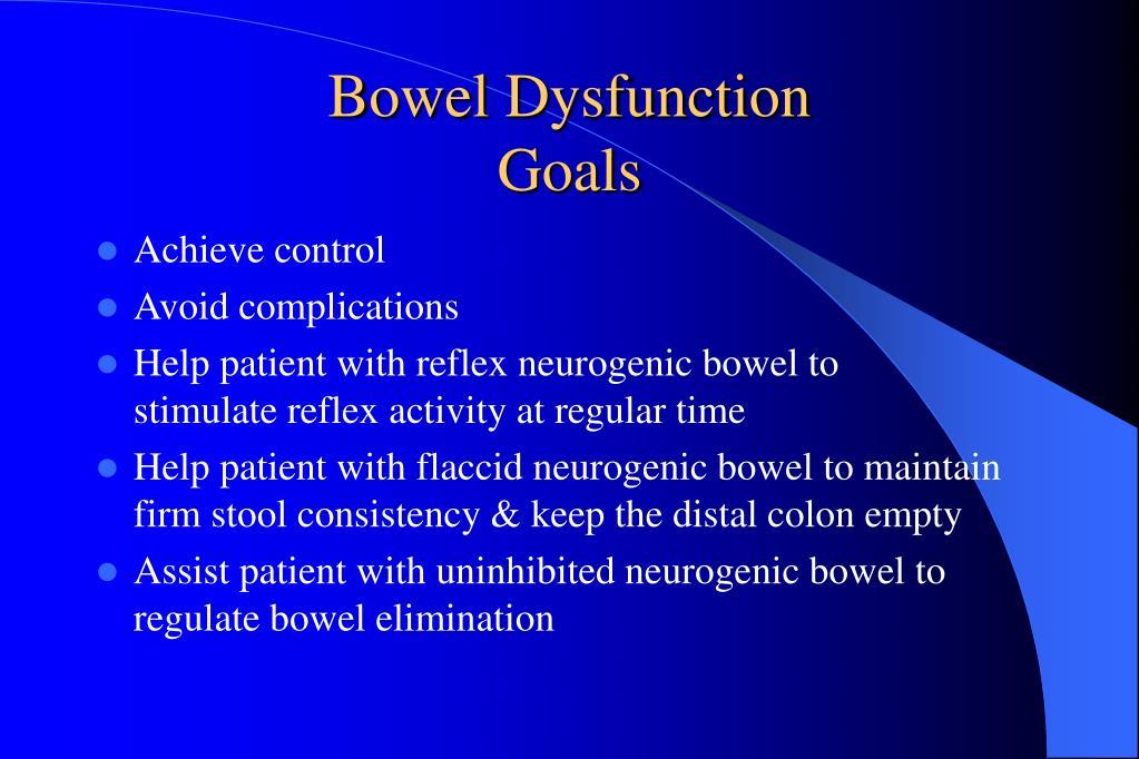 Bowel Dysfunction