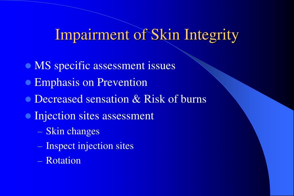 Impairment of Skin Integrity