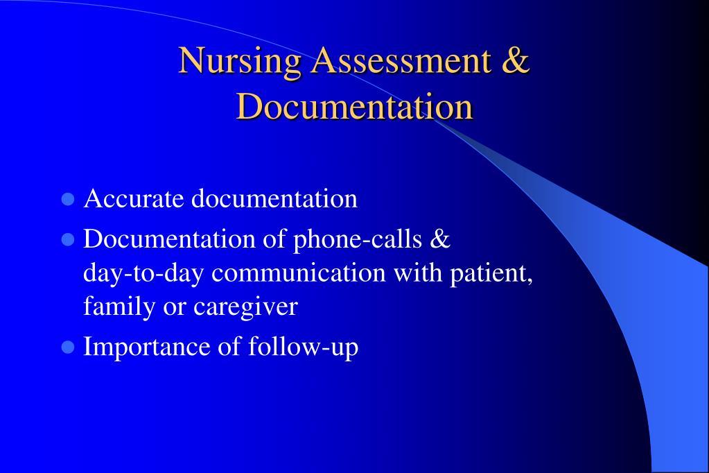 Nursing Assessment & Documentation