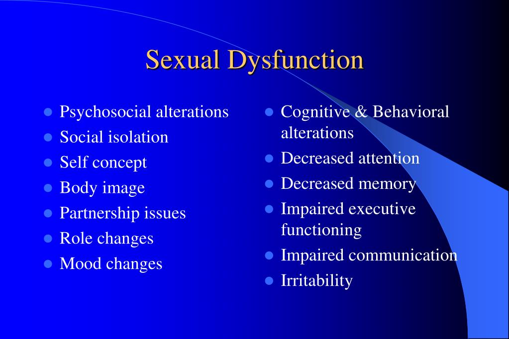 Psychosocial alterations