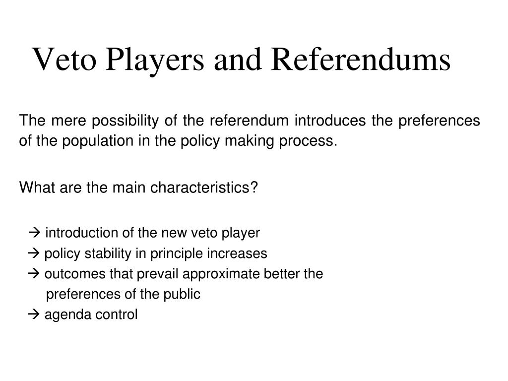 veto players and referendums l.