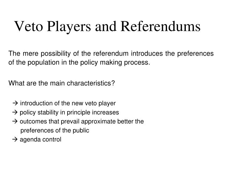 veto players and referendums n.
