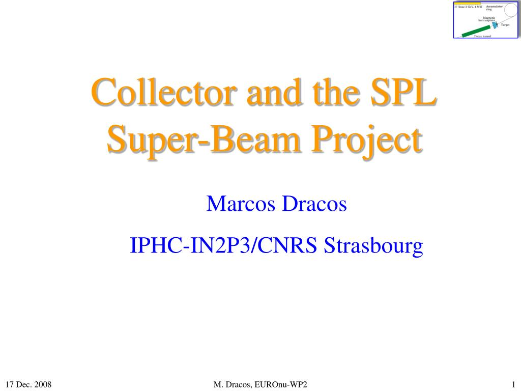collector and the spl super beam project l.