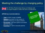 meeting the challenge by changing policy