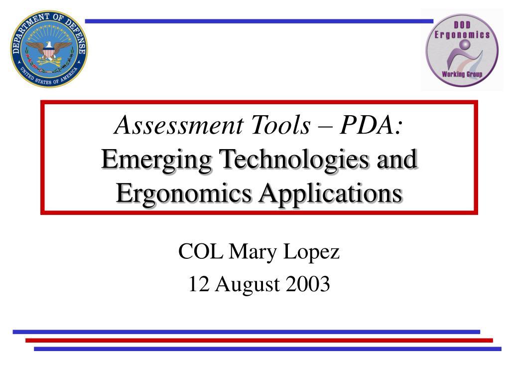 Assessment Tools – PDA:
