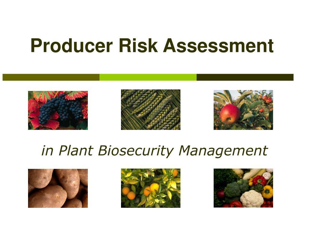 Producer Risk Assessment