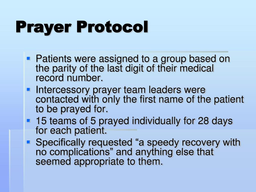 PPT - The Scientific Efficacy of Intercessory Prayer