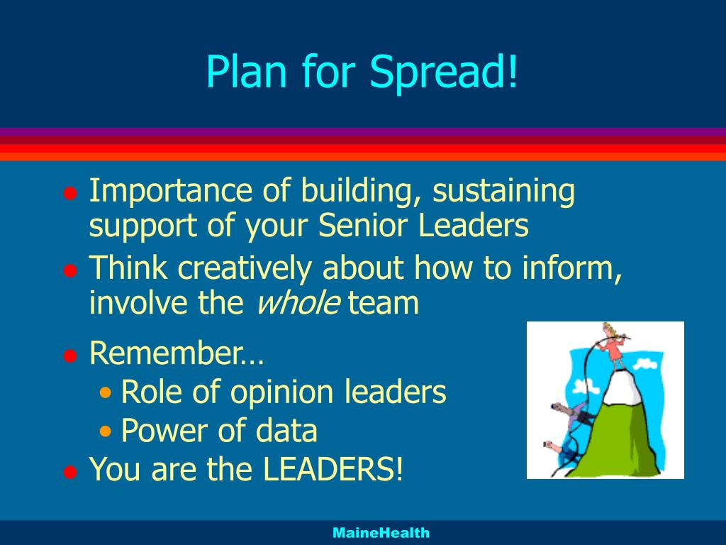 Plan for Spread!