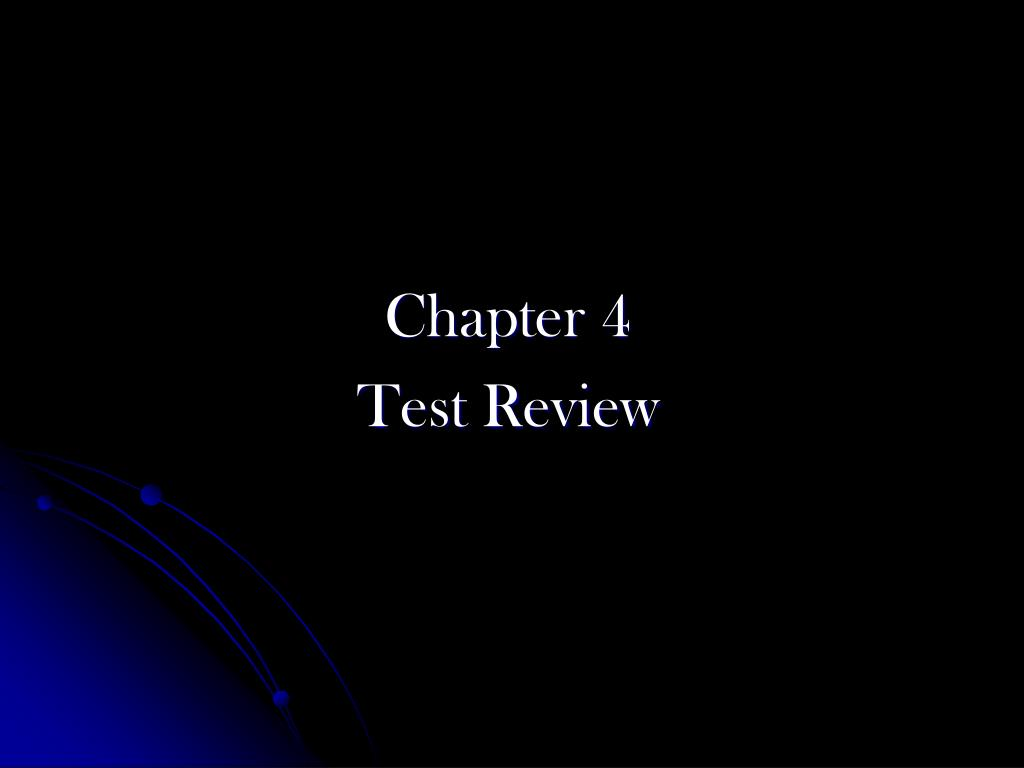 chapter 4 test review l.