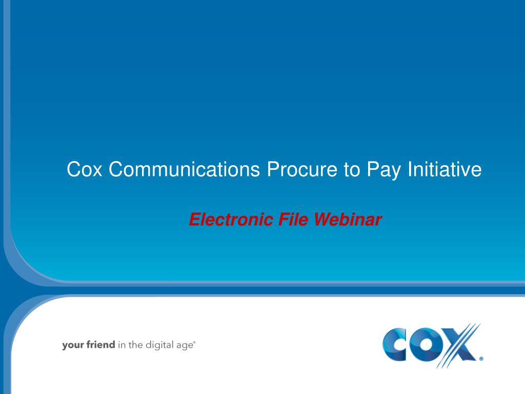 cox communications procure to pay initiative l.