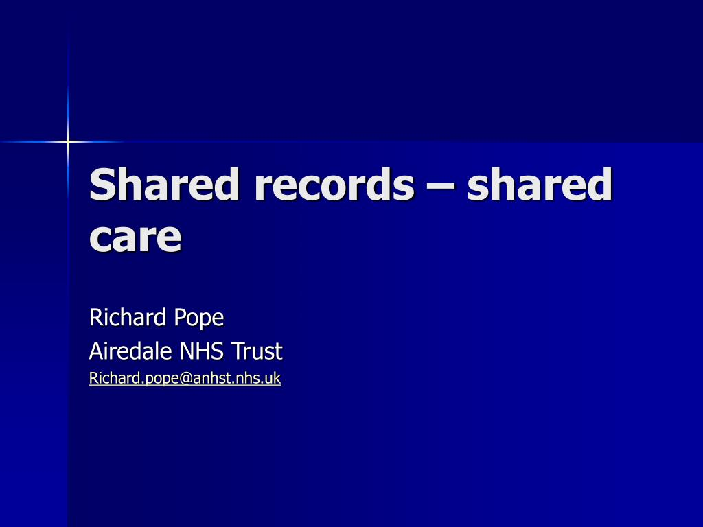 shared records shared care l.