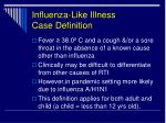 influenza like illness case definition