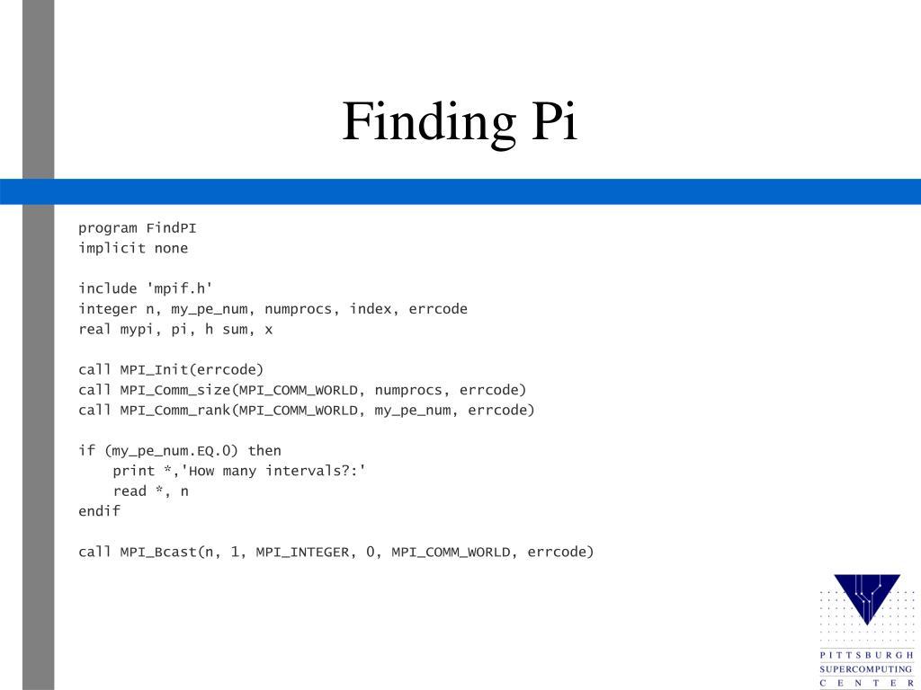 program FindPI