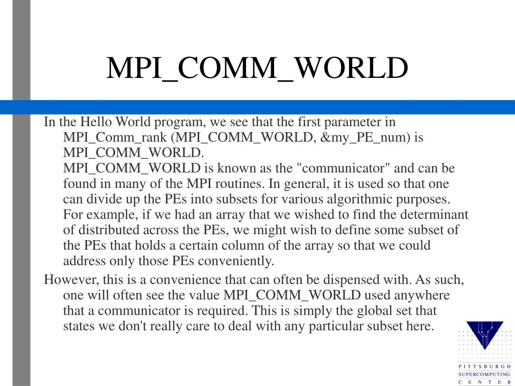 MPI_COMM_WORLD