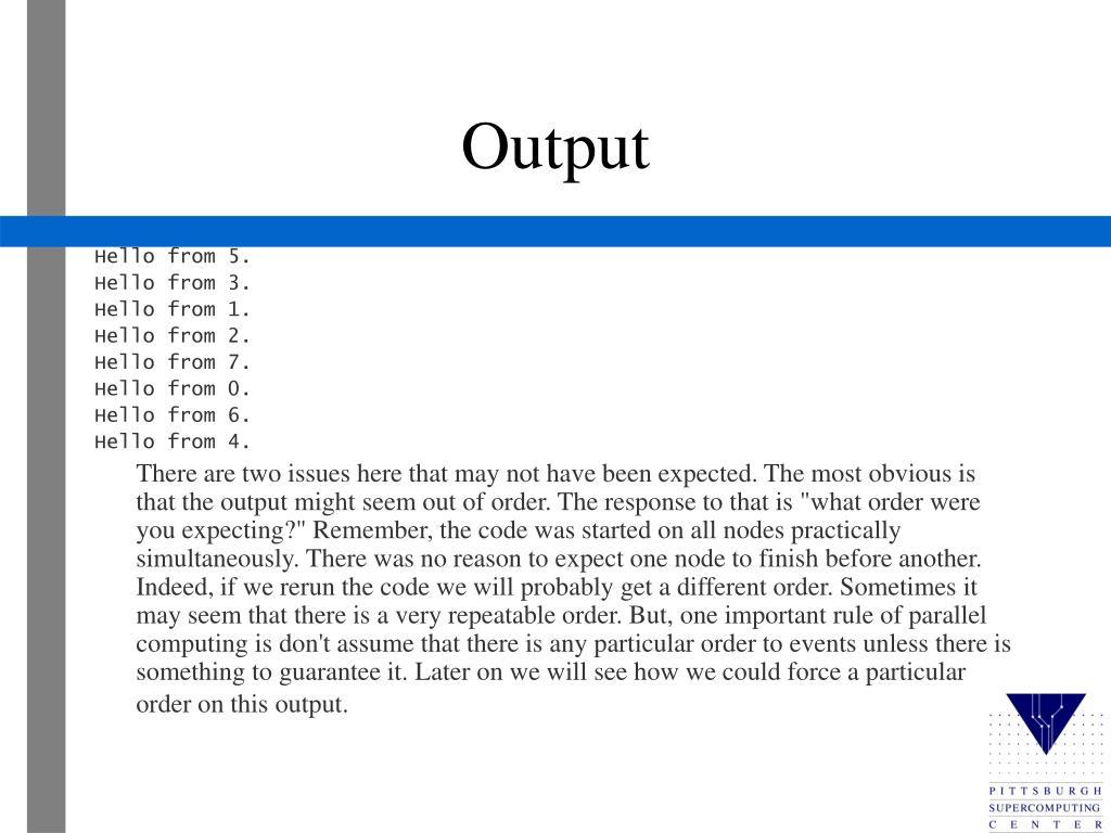 Output
