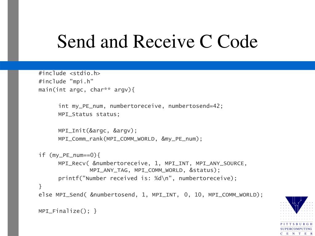 Send and Receive C Code